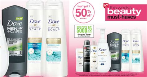 walgreens buy 1 get 1 50 off dove products and score 5