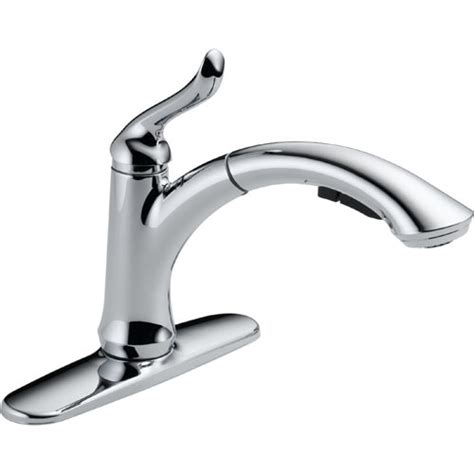 delta single handle kitchen faucets delta 4353 dst linden single handle pull out kitchen