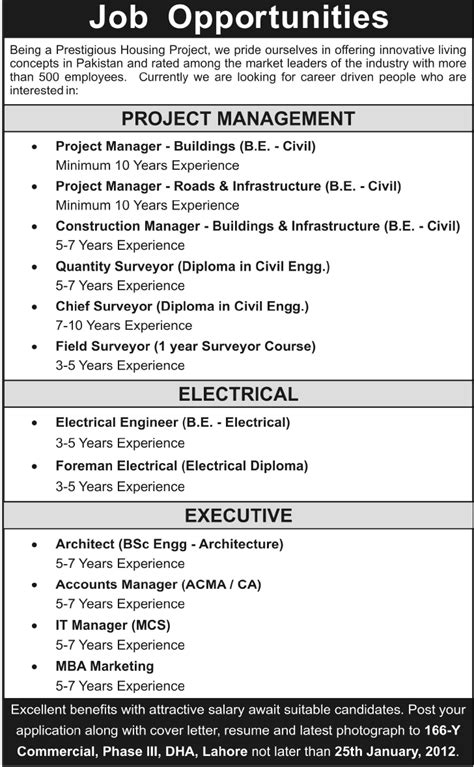 Mba In Construction Management In Pakistan by Project Management Electrical Executive 2013 At A