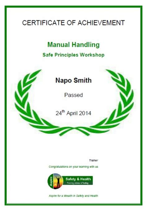 Manual Handling Principles   Risk Assessment Training