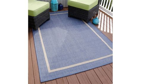 home goods outdoor rugs lavish home border indoor outdoor area rug groupon