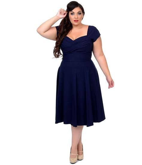 stop staring swing dress stop staring plus size mad men navy cap sleeve swing