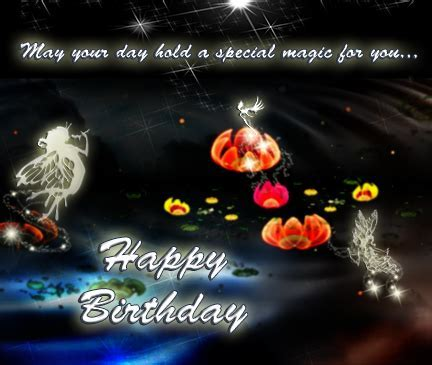 Fairies And Water Lilies  Free Happy Birthday eCards