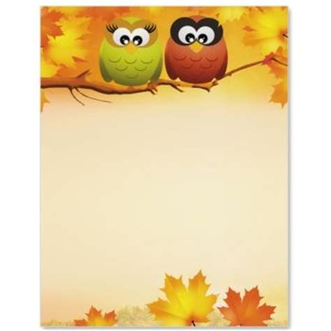 owls in autumn letter paper idea art fall and autumn