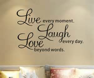 Living Room Wall Decor Quotes Free Shipping Live Every Moment Inspirational Quotes