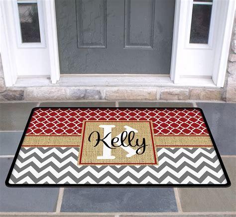 personalized door mat custom doormat monogrammed custom rug