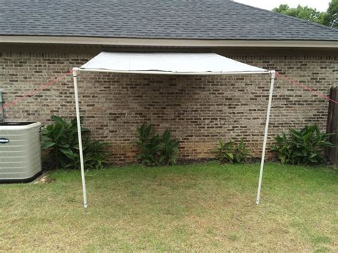 Garage Canopy Awning Tarp And Pvc Canopy Lean To Workspace 12 Steps