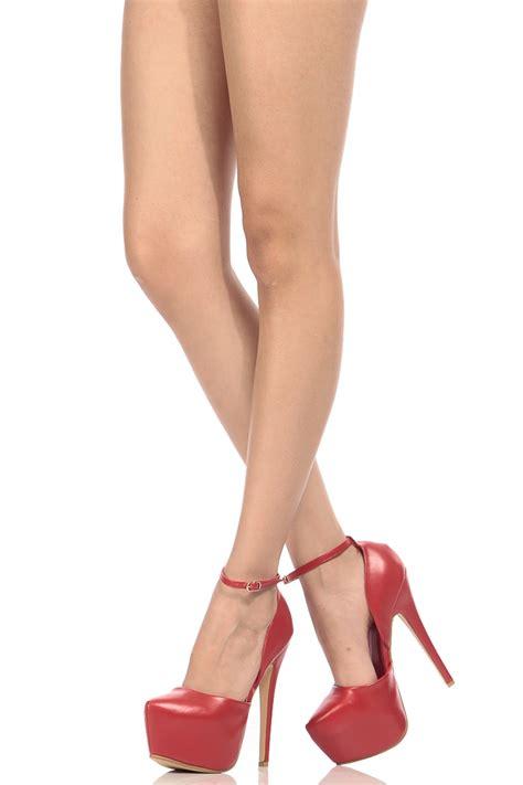 Platform Faux Leather Shoes faux leather ankle platform heels cicihot heel