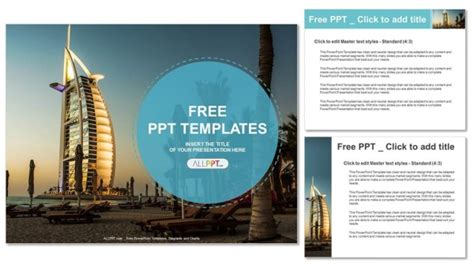 Burj Al Arab Hotel In Dubai Powerpoint Templates Hotel Powerpoint Presentation Templates