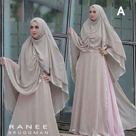 Busana Muslim Set Busui Gamis Syar I Mix Linen Ruby Best Seller Cantik baju gamis syar i terbaru set by ranee brugman