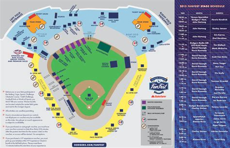 dodgers fanfest map schedule details   dodgers