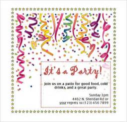 microsoft birthday invitation templates 54 microsoft invitation template free sles exles