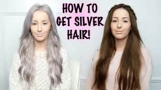 how to get hair color your skin how to silver hair tutorial by tashaleelyn