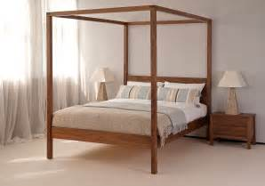 4 Poster Bed Orchid Four Poster Bed Solid Wood Natural Bed Company