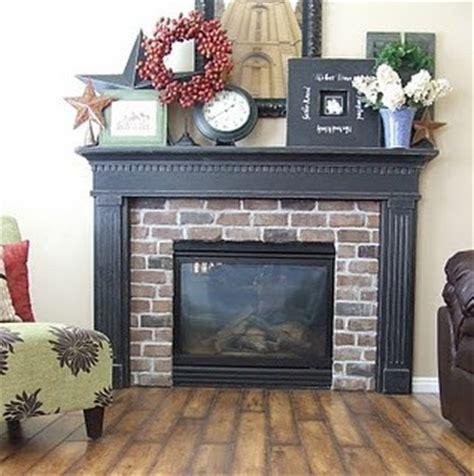 black mantel fireplace home decor