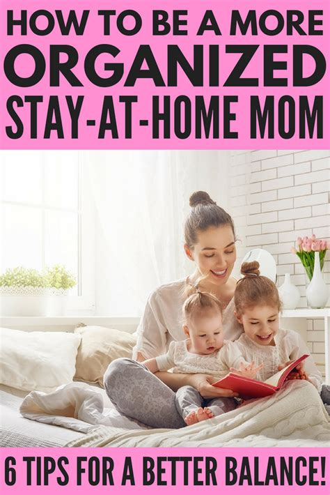 how to be an organized stay at home 6 time management
