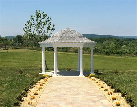 hexagon gazebo vinyl roof hexagon gazebos gazebos by style