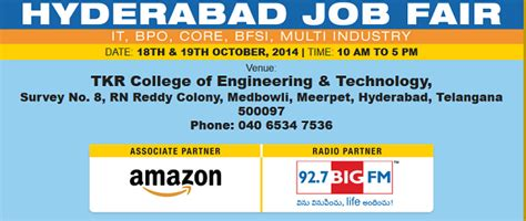 Ibm Mba College Hyderabad by Hyderabad Fair Cus For Freshers On 18th 19th