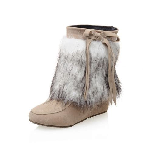 popular faux fur boots buy cheap faux fur boots lots from