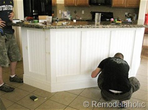 Reskin Kitchen Cabinets by Fabulous Kitchen Island Makeover Part One Remodelaholic