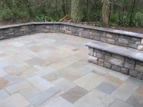 Blue stone patio amp retaining wall