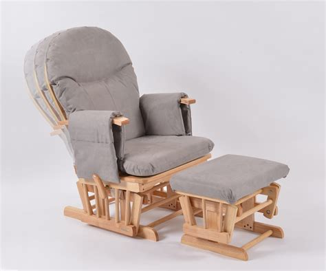 rocker recliner chair covers habebe glider chair stool beech wood grey washable