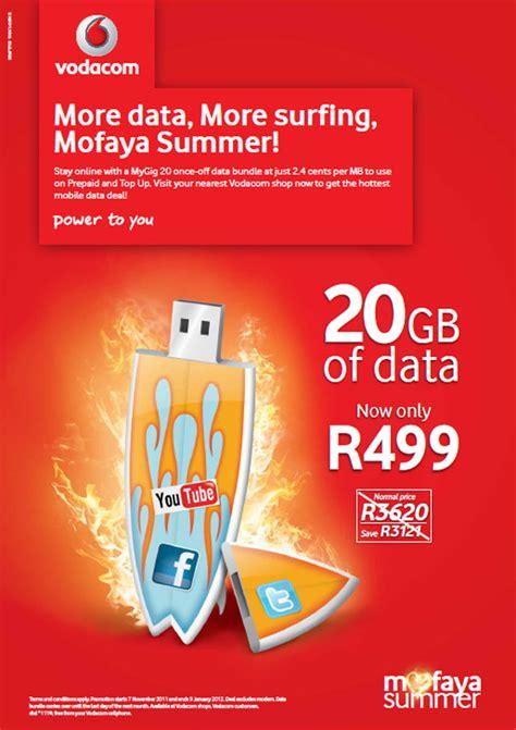 vodacom mofaya gb prepaid data deal