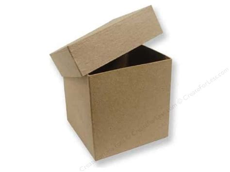 Craft Paper Boxes - paper mache square box 4 in by craft pedlars 12