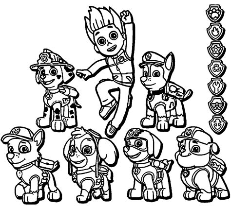 paw patrol giant coloring pages paw patrol coloring page coloring home