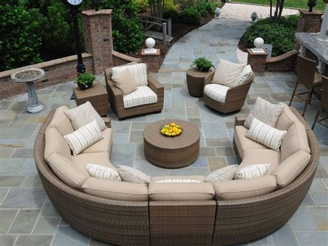 outdoor furniture circular couch circular patio furniture home outdoor