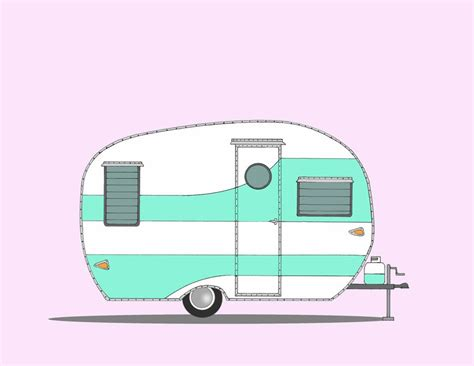 The gallery for   > Retro Camper Clipart