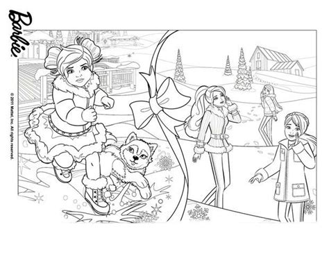 barbie stacie coloring pages desenho de barbie e irm 227 s preparando natal para colorir