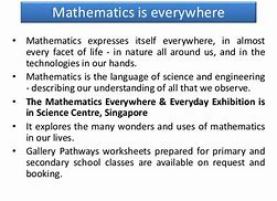 Image result for importance of mathematics in daily life essay