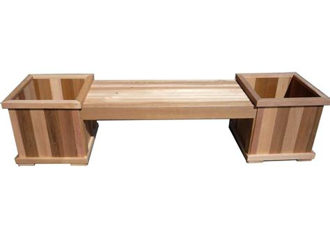 box benches cedar bench and planter boxes enhance your patio in a day