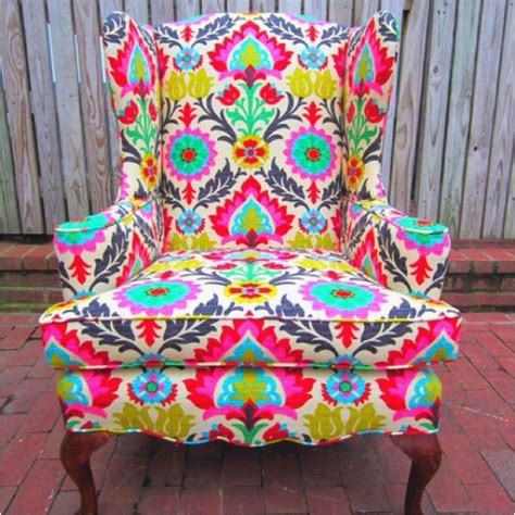 Patterned Club Chair Design Ideas I Bright Patterned Chairs L I V I N G R O O M Patterned Chair