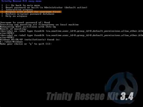 how to bypass windows 7 password with trinity rescue kit how to bypass windows 7 password with trinity rescue kit
