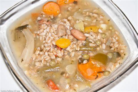 cucinare minestrone minestrone di farro ricette di cucina