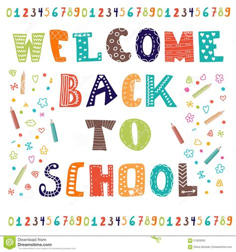 welcome card design template welcome back to school greeting card back to school