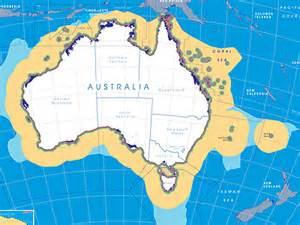 continental shelf australia map