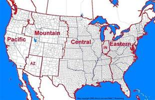 time zone map for america us 48 states time zones