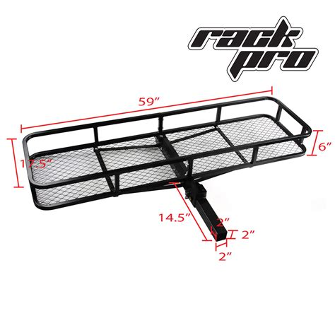 Car Back Rack by Large Rack Cargo Luggage Carrier Basket Car Rear Hitch
