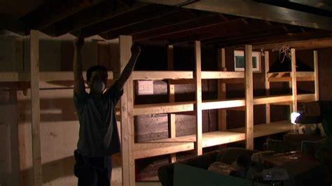 building a basement shelf time lapse