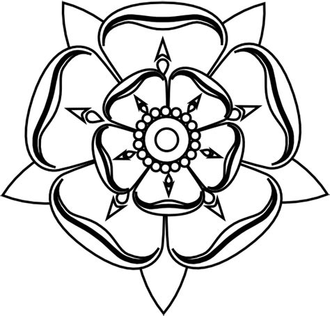 yorkshire rose tattoo pictures black white line tatoo flower