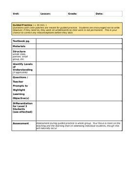 singapore math lesson plan template singapore math lesson planning template by allison tpt