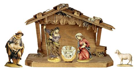nativity set 6 pcs incl stable nativity sets