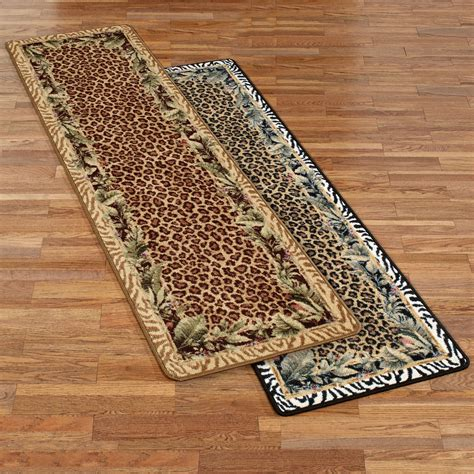 Leopard Print Runner Rug Jungle Safari Animal Print Rug Runner