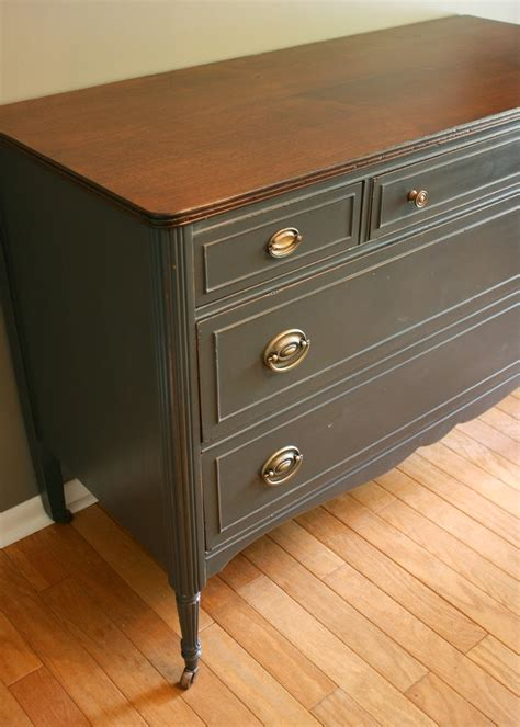 Charcoal Grey Dresser by Roots And Wings Furniture No 78 Charcoal Gray
