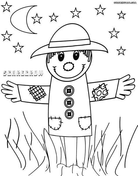 scarecrow coloring page scarecrow coloring pages coloring pages to and