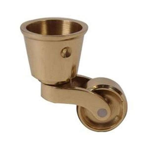 restorers solid brass cup caster 1 inch wheel