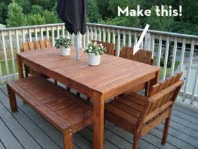 Build Patio Table Make It A Simple Outdoor Dining Table On The Cheap Curbly